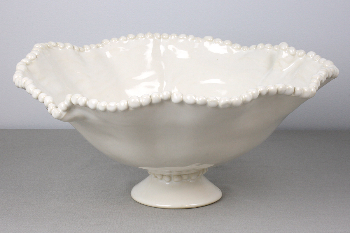 Pedistal Bowl, French White